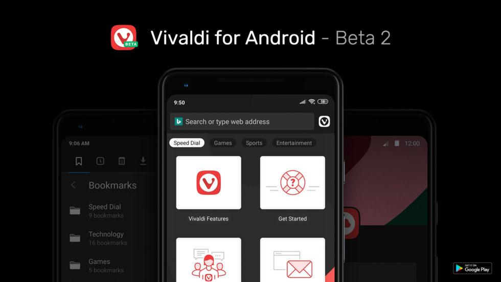 Vivaldi para Android: beta 2
